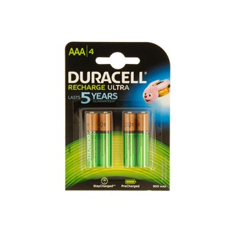 Duracell Rechargable Ultra Aaa Battery 900mah 4s (DURHR03B4-900)